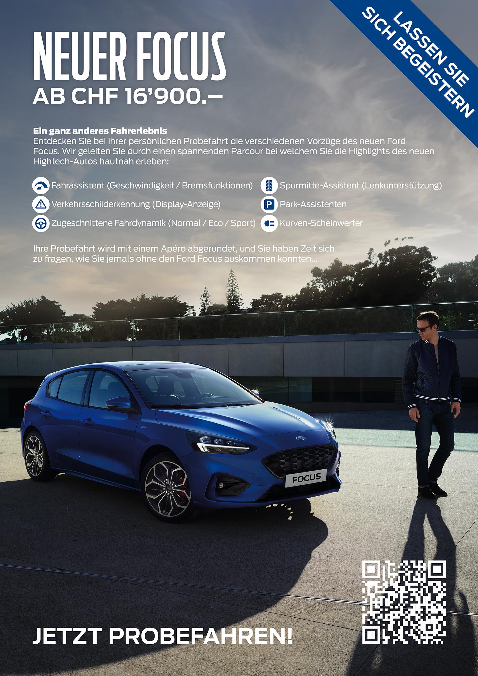 Neuer Ford Focus 2019 probefahren