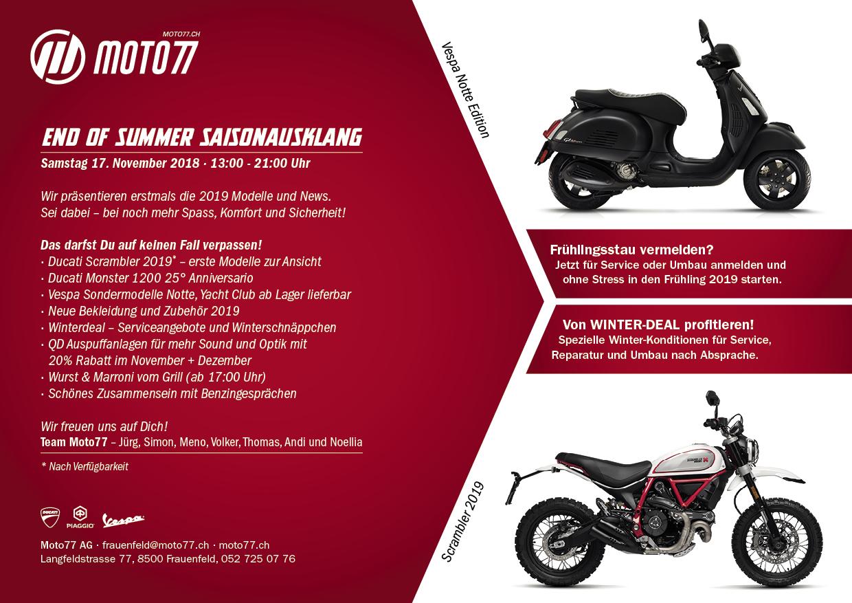 End of summer Moto77